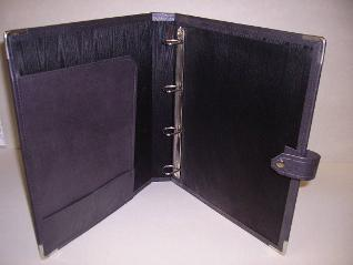 pu folder with internalmpockets and press stud strap
